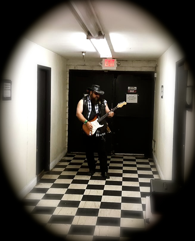 Warming up backstage